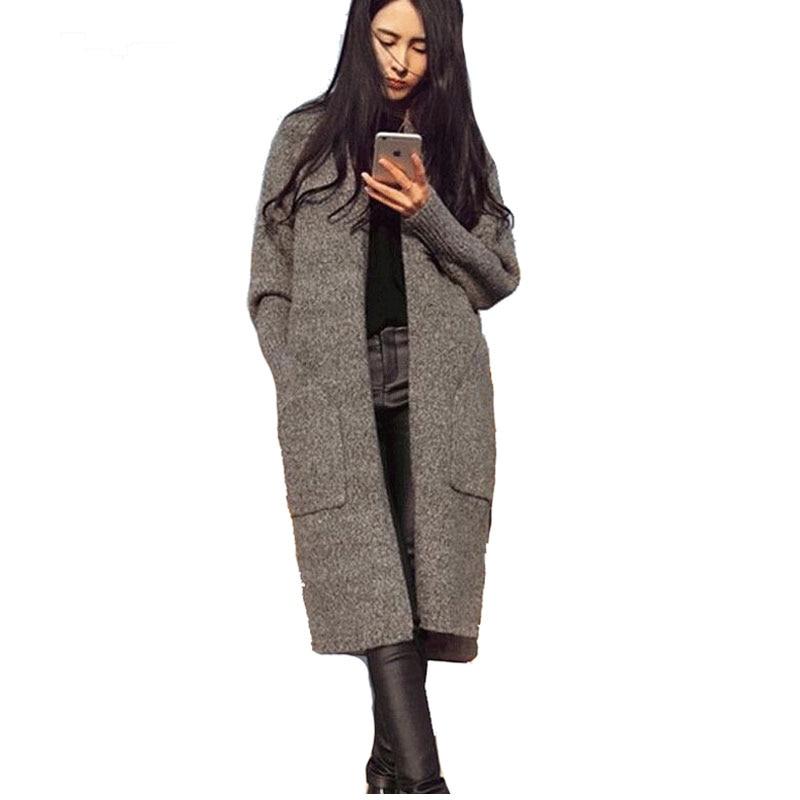 Long Black Sweater Coat Promotion-Shop for Promotional Long Black ...