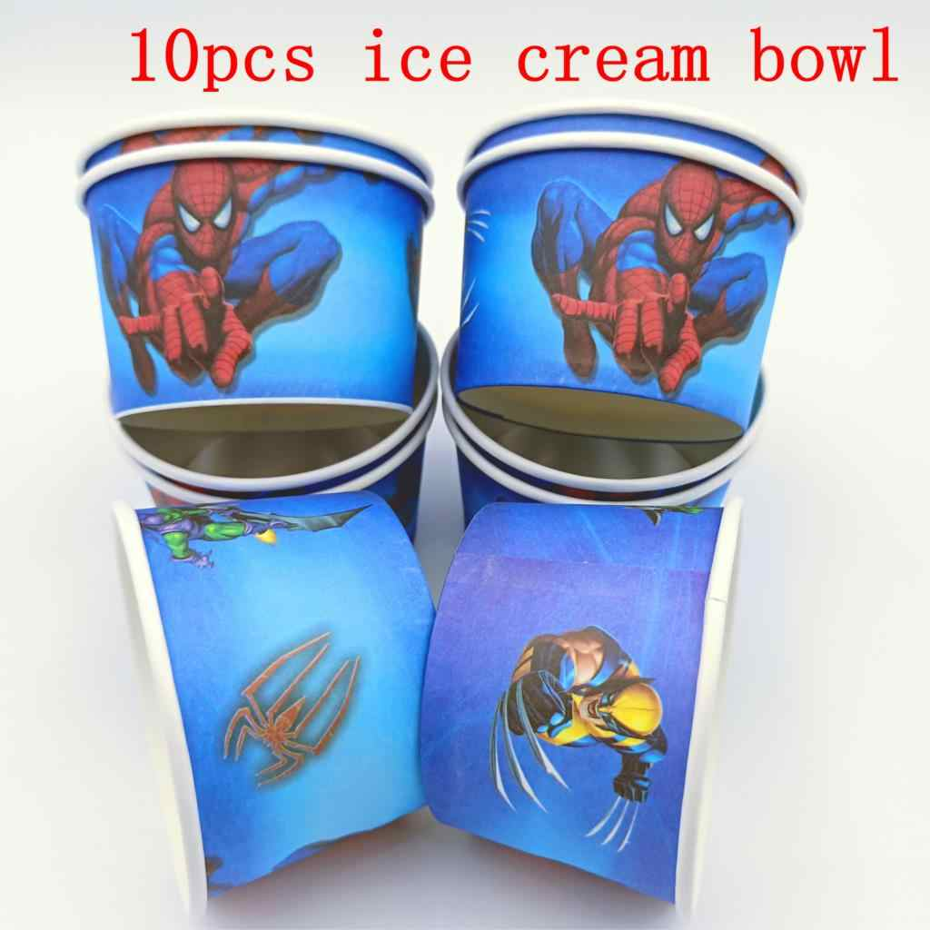 10PCS/Lot Spider Man Birthday Party Decoration Kids Disposable Ice Cream Cup Baby Shower Souvenirs Event Party Supplies Favor
