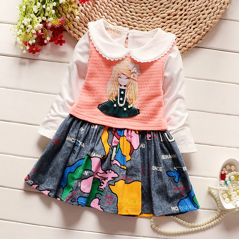 e2ae86fd3d7 bibicola 2017 Autumn Hot selling Baby Girl Clothes Newborn Toddler girls  dress+short cardigan 2pcs suit Infants Clothing Sets-in Clothing Sets from  Mother ...