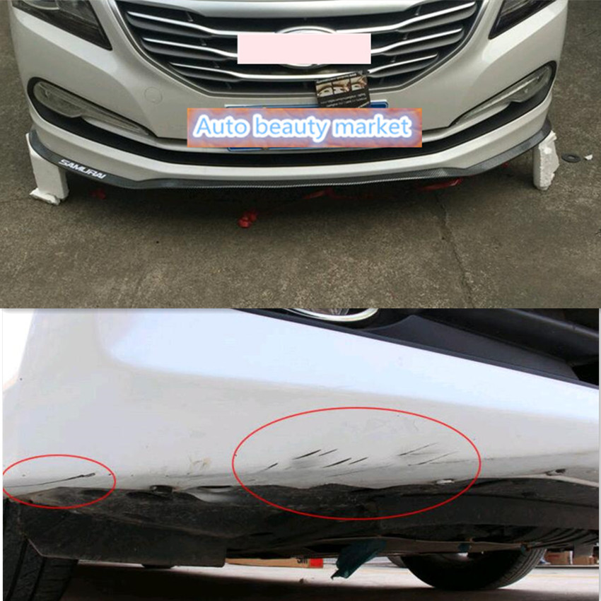 2017 New Style Car Front Bumper Scratches Guard Lip For