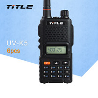 (6 шт.) черный корпус радиостанции KSUN UV K5 двухдиапазонный UHF 400 520 МГц fm радио двухсторонняя рация