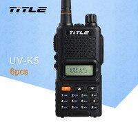 (6 шт.) черный KSUN переносной радио UV K5 двухдиапазонный УКВ 400 520 мГц FM радио двухстороннее радио портативная рация