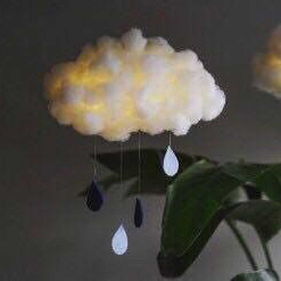 DIY ручной работы милый хлопок облако форма свет подвесной ночник для подарка на день рождения Домашний Декор Спальни Прямая доставка распродажа