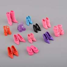 12 pairs/Lot Doll Shoes Fashion Cute Color Random shoes for Doll with Different styles High Quality Baby Toy(China)