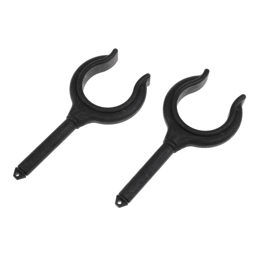 Image 2 - Fishing Rods Boat Hook Paddle Holder, 2 Pieces Made Of Nylon (Black) Rudder Fork Rudder Dowel barrette Llave de remo-in Marine Hardware from Automobiles & Motorcycles