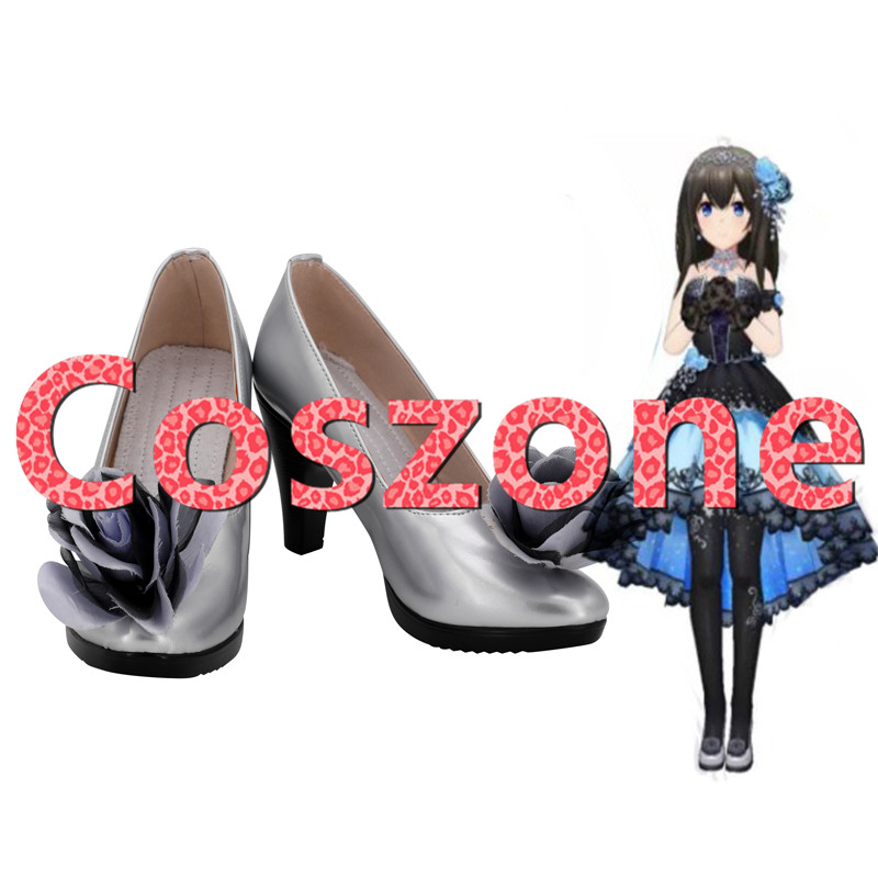 THE IDOLM@STER Cinderella Girls Sagisawa Fumika Cosplay Shoes Boots Halloween Cosplay Costume Accessories