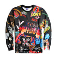 Hot Rock and Roll Over Kiss 3D Print Sweatshirt Pullover Streetwear Unisex Slim Jumper Animation Outerwear Tracksuit