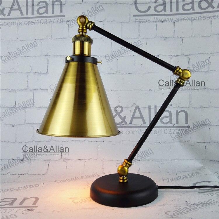 Бесплатная доставка с Edison лампы 60 Вт собраны бронза железо Таблица освещения с выключателем и вилка ul/ce рядом лампы для отеля Декор