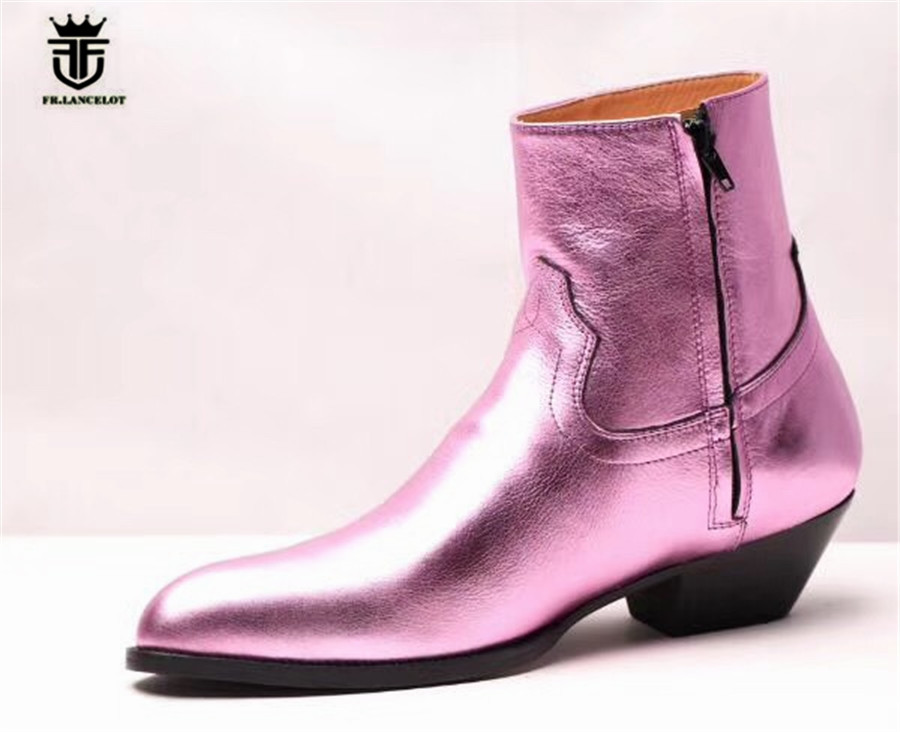 Catwalk trend wedge Skinny Slim Leather Gentlemen Pointed Toe Boots Personalized Causal Dress party Denim Shoes ремни lee ремень gentlemen