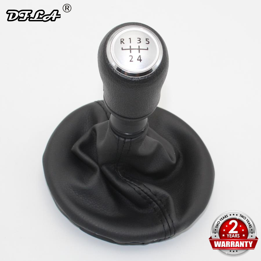 For VW Transporter Multivan Caravelle T5 T6 2003 2004 2005 2006 2007 2008 2009 2010 5 Speed Gear Shift Knob With Leather Boot