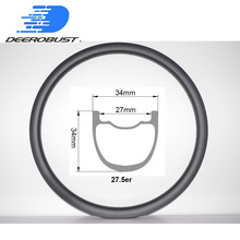 440g 27.5er Trail 34mm x 34mm Mountain Bike Carbon Rims Hookless Tubeless Clincher 27.5 inch 650B MTB Rim Wheel UD 3K Twill 12K 435g am 29er carbon mtb rim mountai bikes rim am 29er mtb 36mm width mtb bicycle rims 28h 32h 3k glossy tubeless mtb rims