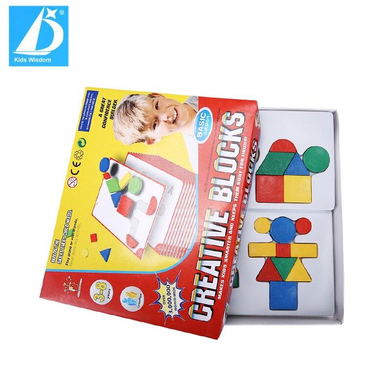 32pcs Jigsaw Puzzle Cubes Bricks & 30pcs Cardboards Kids ...