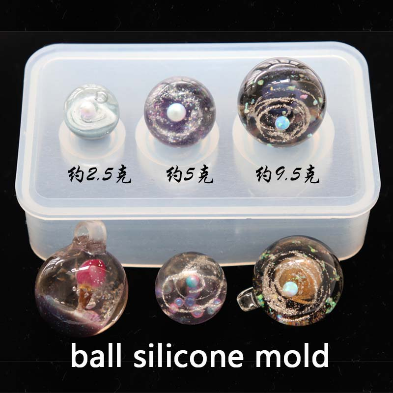 Transparent Silicone Mould Resin Decorative Craft DIY Different Sizes Universe Ball Shpe Type Epoxy Resin Molds For Jewelry