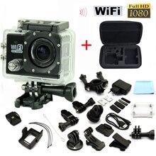 Горячий Стиль Спорт Действие WiFi Camera1080P Full HD 2.0 «ЖК Display12MP Дайвинг 30 М Водонепроницаемый Спорт DV Камера С сумка Свободный корабль