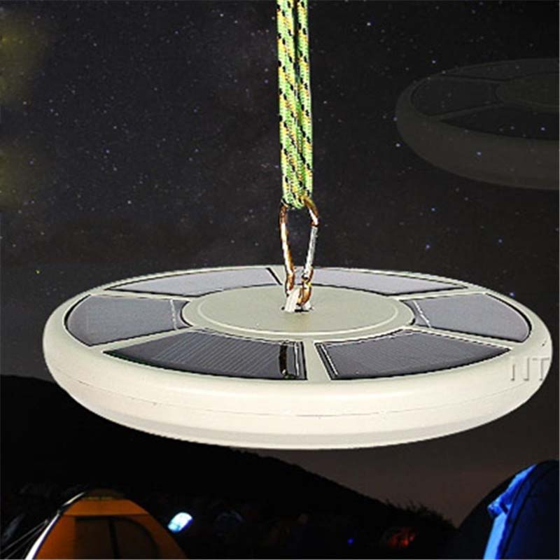 Waterproof LED Solar Energy Chargeable Lights Hanging Camp Tent Garden Outdoor Lamp Security Lighting Luninaria Decoration