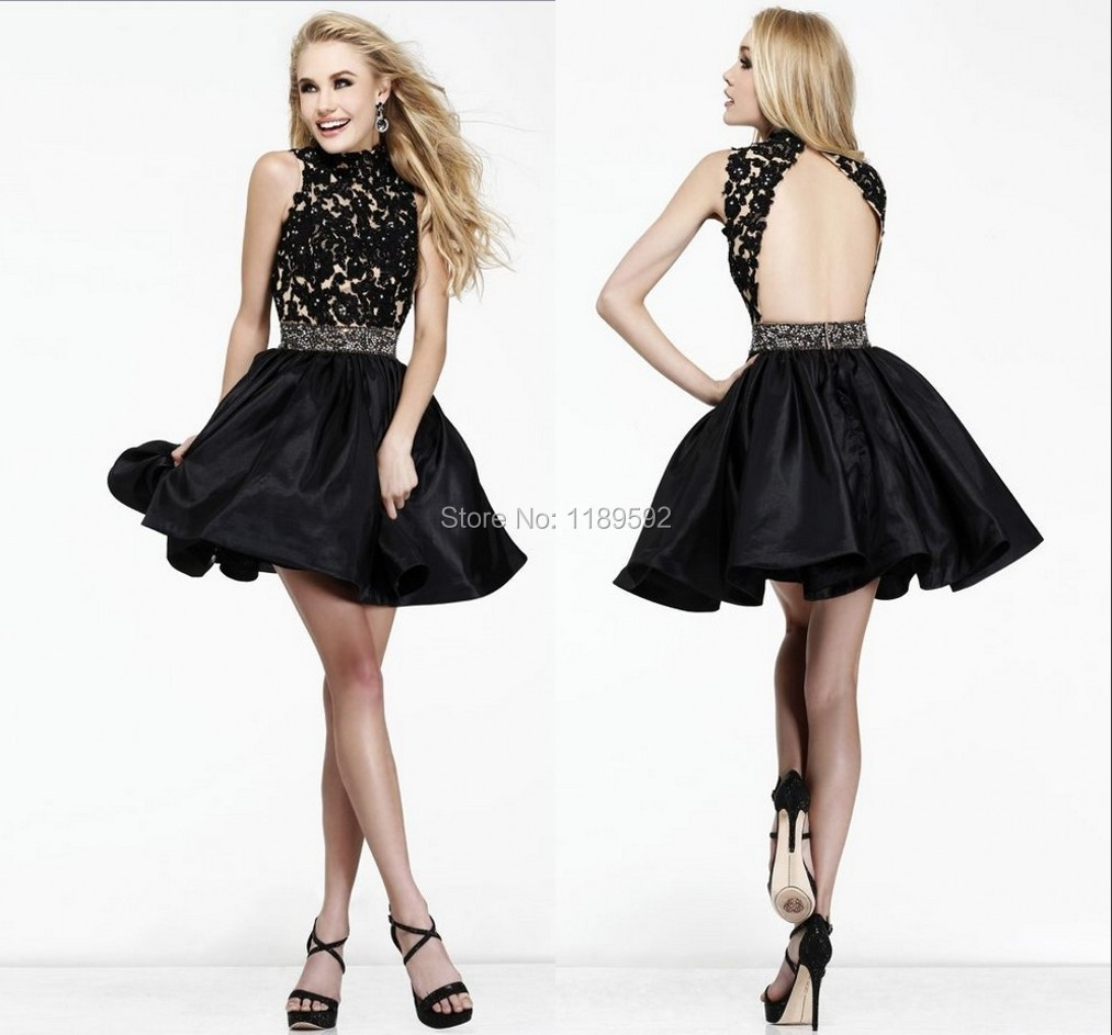 2014 Appliques Short Cocktail Low Price Sexy Cute Free ...