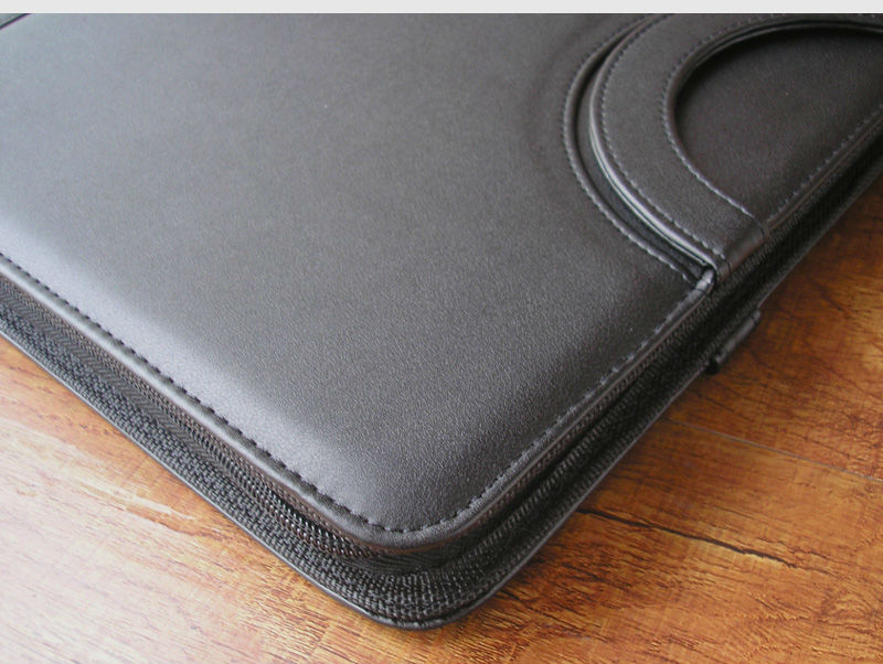 a4 zipper leather business office manager document bag file folder ...