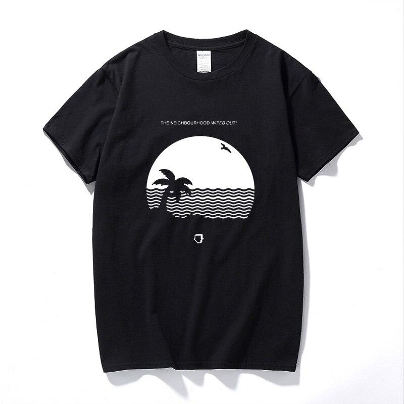 YUAYXEA Masculino presente engraçado Da Vizinhança Dizimado T-Shirt Álbum Casa de Praia Homens T Tamanho Camisa Dos Homens T de Impressão do Algodão t-Shirt