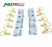 10 комплектов крепежные болты для гоночных мотоциклов 1/4 дюйма с поворотным зажимом и быстрым винтом