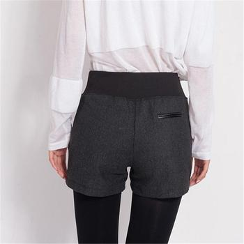 New Autumn Winter Women's Clothing Slim wild Pocket Contrast Color Shorts Female Woolen Crimping Short Pants thick Download D016 5