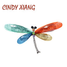CINDY XIANG di Nuovo Modo Multi-color Dragonfly Spille per Le Donne Arcobaleno di Stile di Estate di Colore Spilla Spille Materiale In Resina di Buona regalo(China)