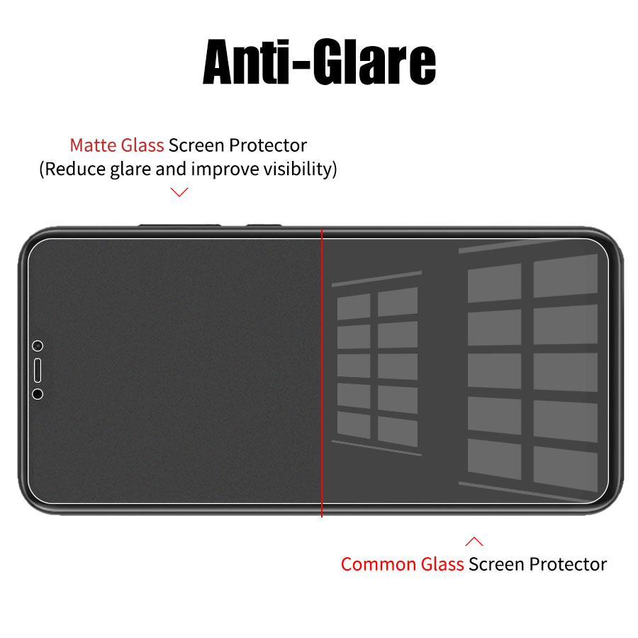 Matowy matowe szkło hartowane dla Xiaomi Redmi 7 6 6A Pro 5 5A Plus 4X Redmi Note 7 6 5 Pro 4 anti-Fingerprint ochraniacz ekranu 10