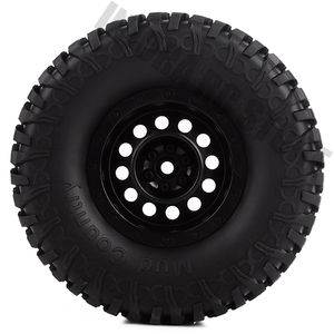 Image 3 - 1.9 inch 4Pcs/Set Rubber Tires&Plastic Wheel Rim for 1:10 RC Rock Crawler Axial SCX10 90046 AXI03007 Tamiya CC01 D90