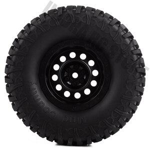 Image 3 - Ensemble pneus et jantes en caoutchouc de 1.9 pouces, pour roue en plastique 1:10 RC, chenille axiale, SCX10 90046 AXI03007 Tamiya CC01 D90