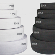 5Meter 15/20/25/30/35/40/50/60MM Elastic Band Sewing Clothing Accessories Nylon Elastic Rubber Band Garment Sewing Black White цена и фото