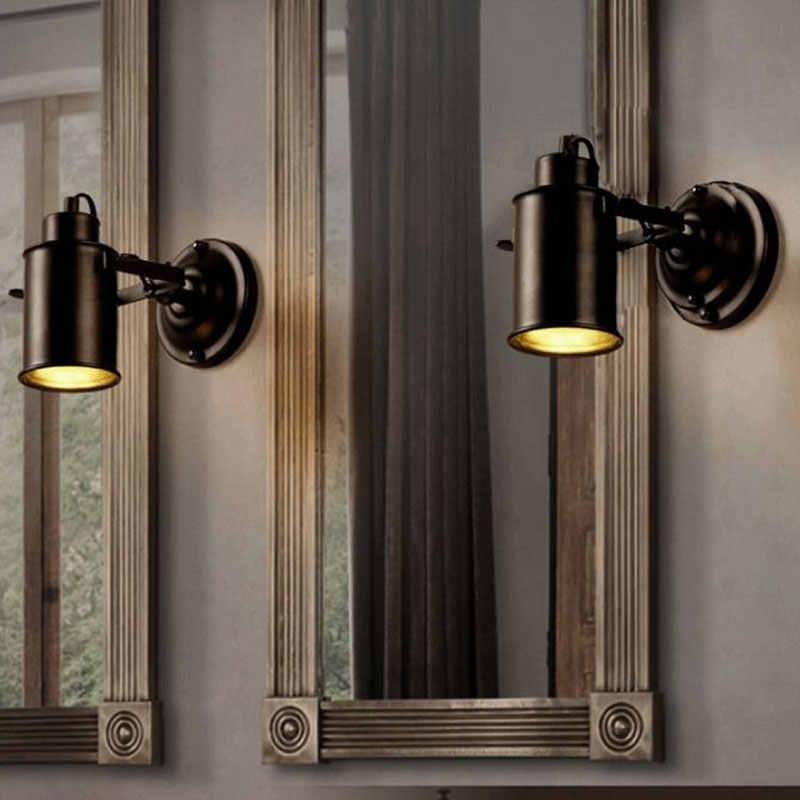 Lâmpada de parede retrô industrial, luz ajustável para restaurante, cabeceira ou bar, café, iluminação doméstica e27