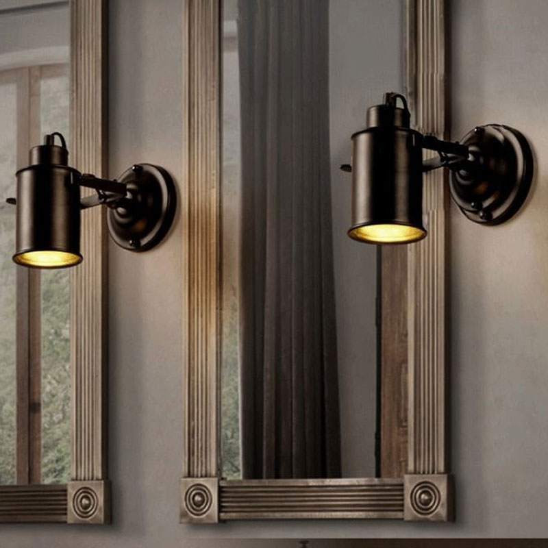 Image 5 - Wall Lamp Retro Industrial wall Light adjustable light sconce fixtures for Restaurant bedside Bar Cafe Home Lighting E27-in LED Indoor Wall Lamps from Lights & Lighting on AliExpress