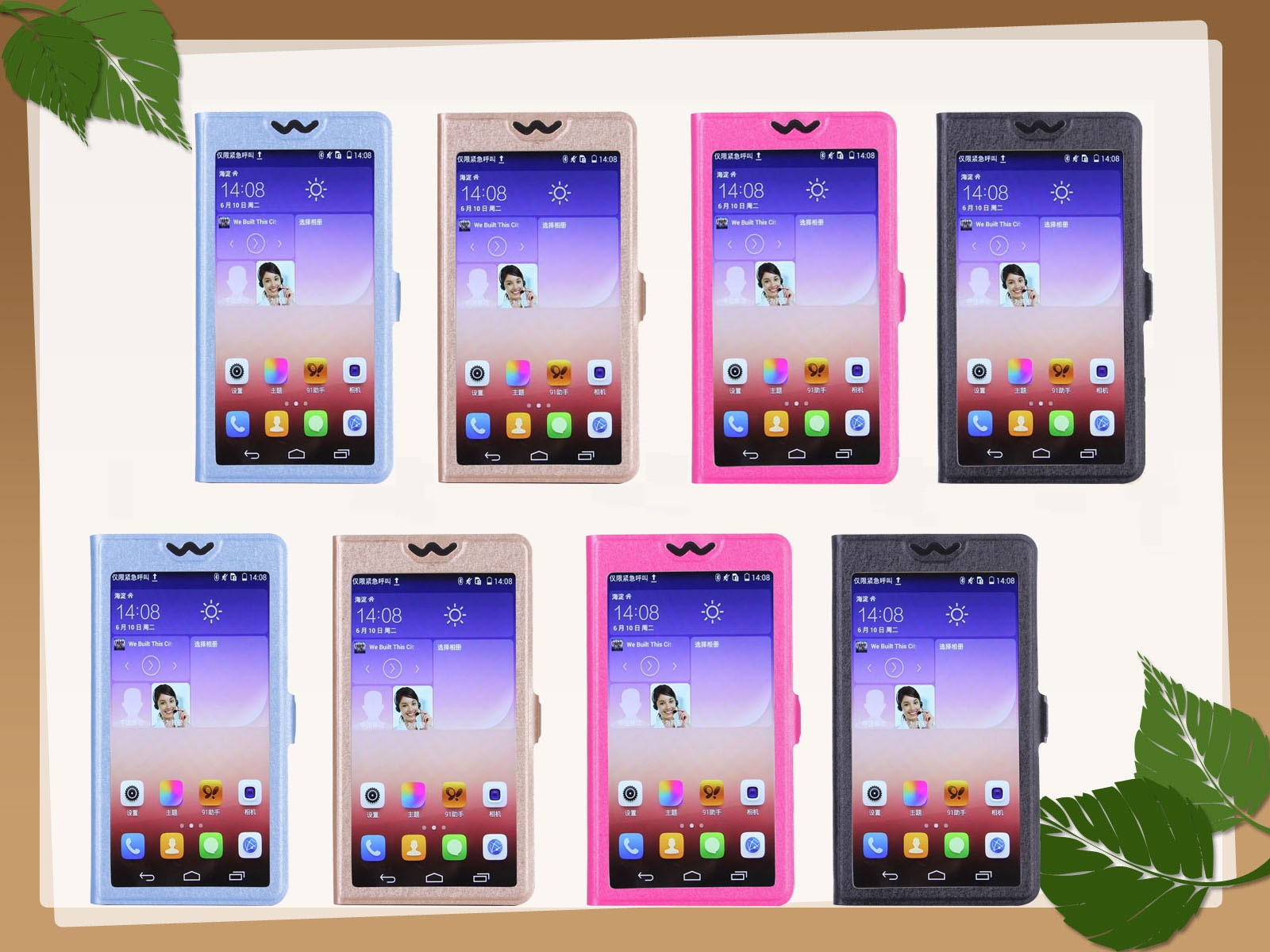 New Full View Windows PU Leather Stand Phone Case for Fly FS454 Nimbus 8 Flip for Fly Cirrus 12 FS516 for Fly FS451 Nimbus 1