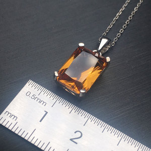 Image 4 - CSJ Classic Design Zultanite Pendant Sterling 925 Silver 10*14MM Created Sultanite Color Change Fine Jewelry Women Party Wedding