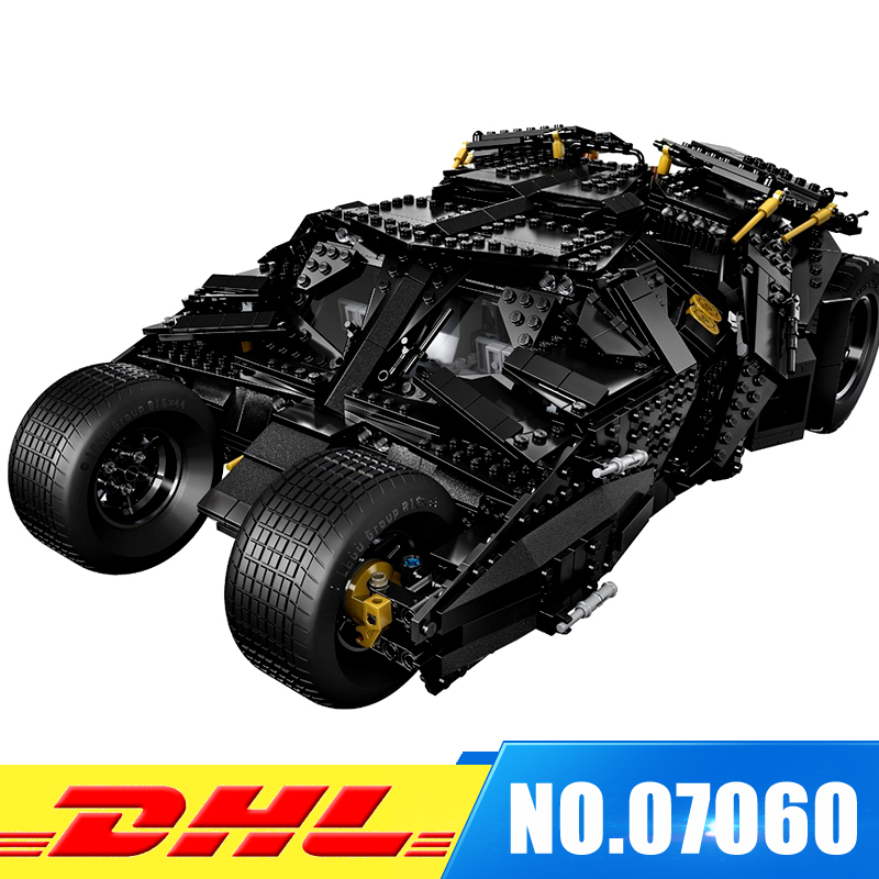DHL LEPIN 07060 Genuine Super Hero Movie Series The Batman Armored Chariot Set Educational Building Block Brick Boy Toys 7111 lepin 07060 super series heroes movie the batman armored chariot set diy model batmobile building blocks bricks children toys