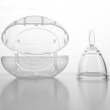 Fabricantes atacado copo menstrual copo de silicone médico, pescoço nu em vez de guardanapo sanitário, artefato da tia grande.
