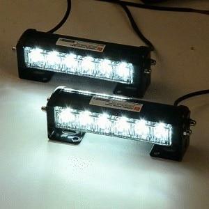 LED Белый авто светодиодные фонари предупреждение аварийный Радиобуй Строб вспышка света автомобилей дневного света 12V