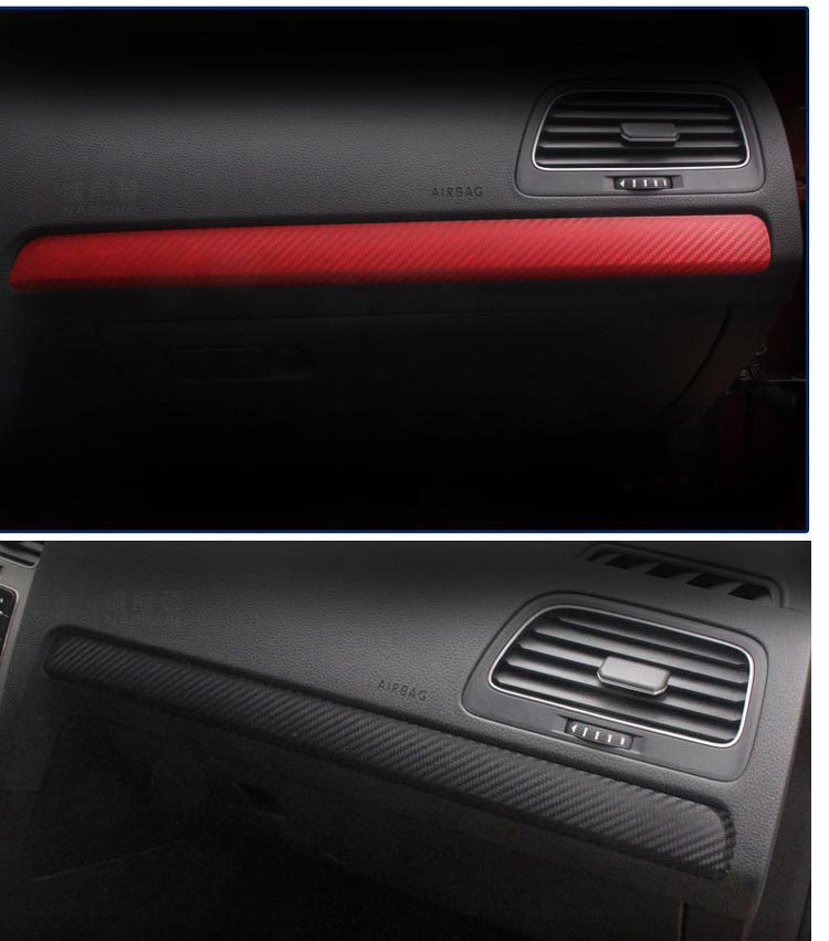 Newest Design Car Interior Accessories Control <font><b>Carbon</b></font> <font><b>Fiber</b></font> sticker For Volkswagen <font><b>Golf</b></font> <font><b>7</b></font> image