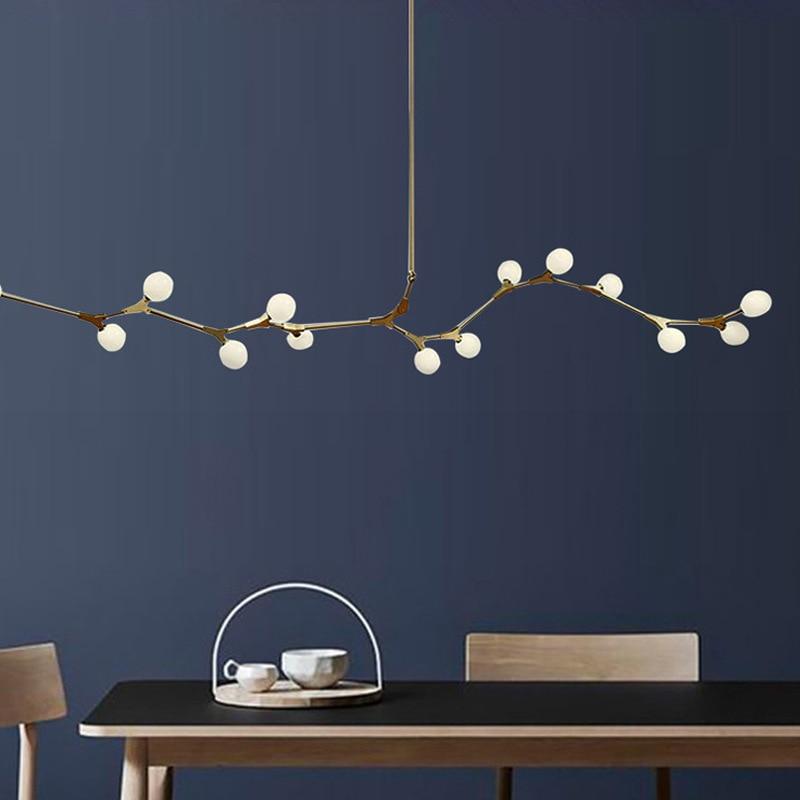 Postmodern LED chandelier lighting living room hanging lights home fixtures Nordic bedroom lamp Glass ball suspension luminaires