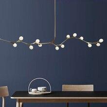 Hậu Hiện Đại LED Đèn Chùm Chiếu Sáng Phòng Khách Treo Đèn Nhà Đèn Bắc Âu Phòng Ngủ Đèn Quả Cầu Thủy Tinh Giá Treo Đèn LED