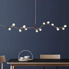 โมเดิร์นโมเดิร์นโคมไฟระย้า LED ห้องนั่งเล่นแขวนติดตั้งภายในบ้าน Nordic ห้องนอนโคมไฟ Ball Suspension โคมไฟ