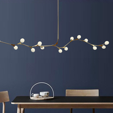 포스트 모던 led 샹들리에 조명 거실 매달려 조명 홈 비품 북유럽 침실 램프 유리 공 서스펜션 luminaires