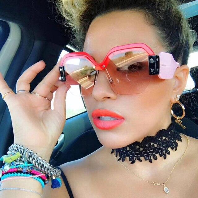 Fashion Oversized Sunglasses Women Big Square Glasses for Women or Ladies  Luxury Brand Cute Classic Accessories e86407917