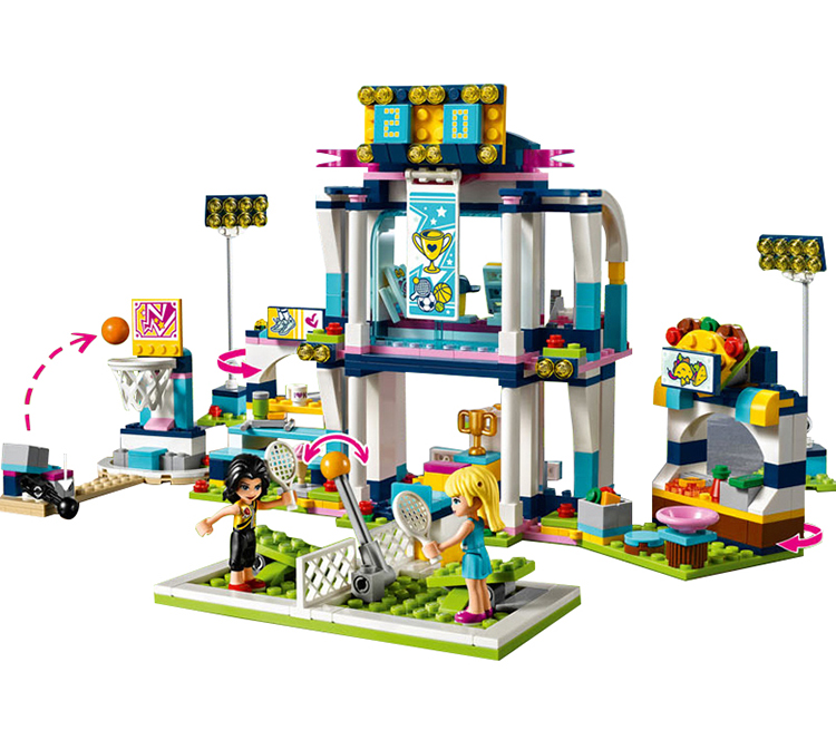 LEPIN Friends Stephanies Sports Arena Building Blocks Bricks Kids Classic Girl Model Toys For Children Compatible Legoe цена