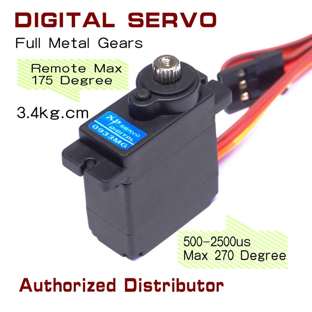 US $7 4 |JX 0933lv 12g 3 4kg digital mini servo metallic gear case for  robot airplane 270 big control angle-in RC Airplanes from Toys & Hobbies on