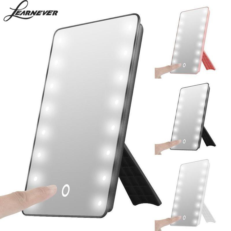 Touch LED Light Make Up Mirror Illuminated Make Up Cosmetic Bathroom Shaving Vanity LED Mirror Light Maquiagem Makeup Mirror