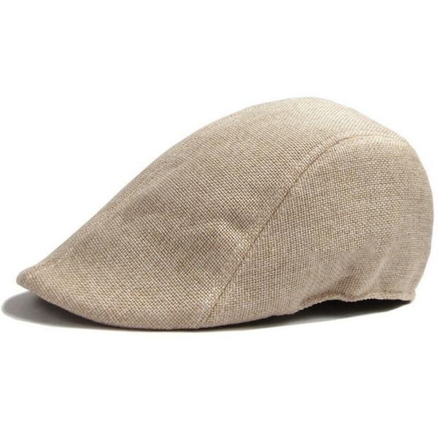 20beef35 Classic Men Women Duckbill Cap Ivy Cap Driving Sun Flat Cabbie Newsboy Hat  Unisex Berets British duck tongue Beret