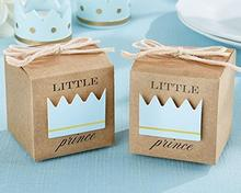 Baby Shower Newborn Candy Box Little Prince Princess Crown Boxes Lovely Babyshower Party Gift