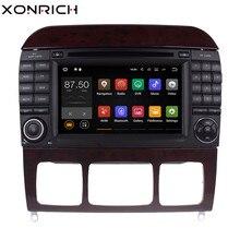 Xonrich автомобильный мультимедийный плеер 2 din Android 8,1 Авторадио для Mercedes-Benz s-класса W220 W215 S280 S320 S350 s500 gps навигации