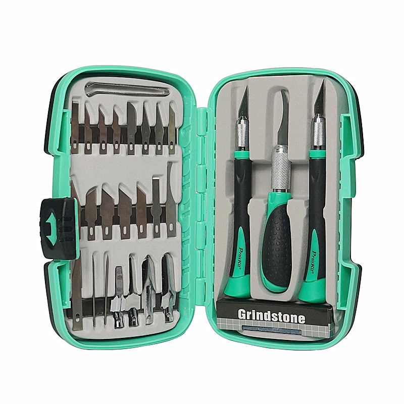 <font><b>Proskit</b></font> PD-395A Multifunctional knife woodworking <font><b>tools</b></font> Set for carving Pro'skit Prokits chisel kit (30 groups) image