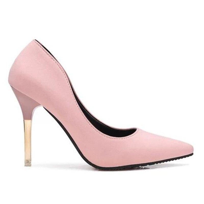 Hauts Femmes Pointu Minces À Profonde Chaussures Pompes Été Sexy chaussures rose Simples Peu Haute Talons De Bout Bouche Ol 2017 Rose Noir gris zFTA7